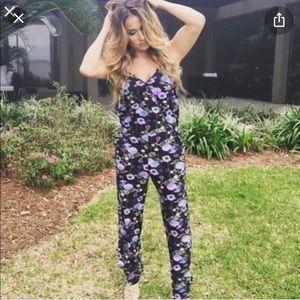 Kittenish Floral Jumpsuit
